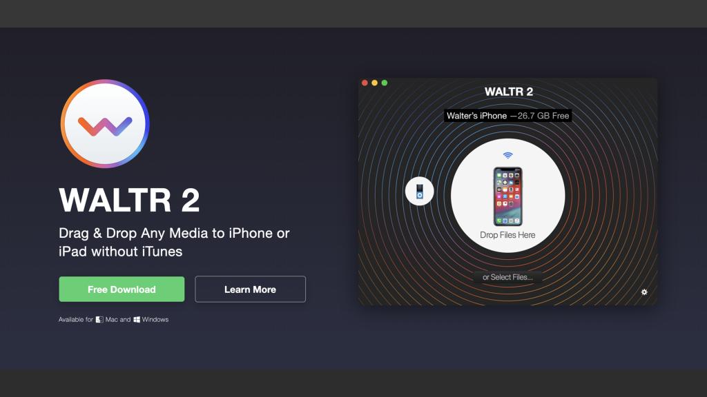 waltr2 1024x576 - iTunesなしで「ミュージック」や「ビデオ」にファイルをそのまま転送するソフト【Waltr2】
