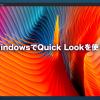 QuickLook 100x100 - WindowsでもMacみたいにファイルの中身を即プレビューできるソフト【QuickLook】