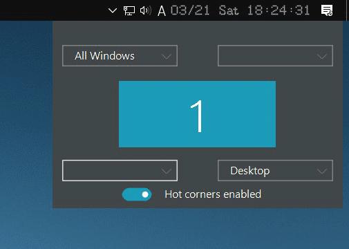 Screenshot 6 - Windowsにホットコーナーを追加して作業効率を向上させる方法