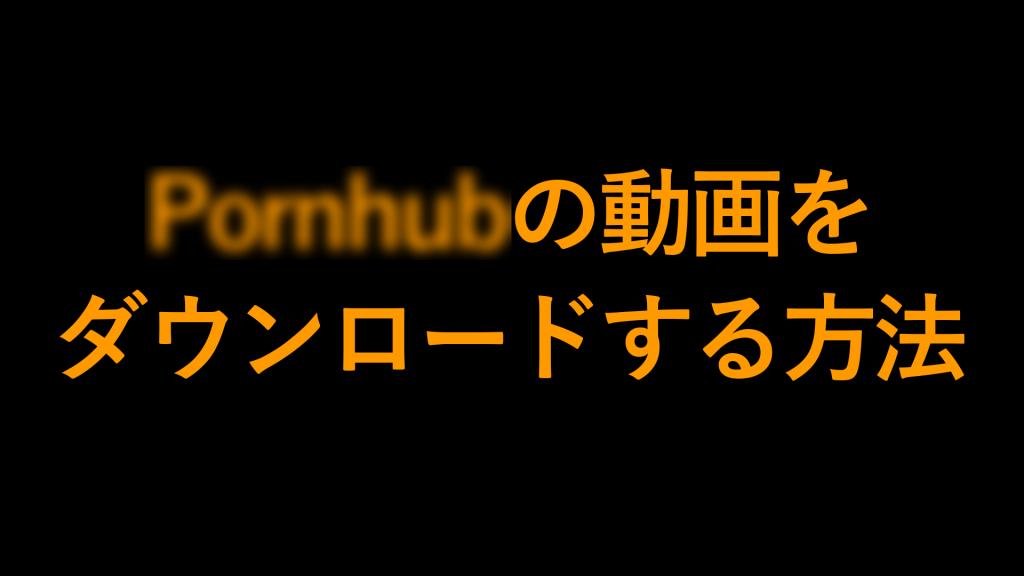 ph thumbnail 1024x576 - 【2021年8月】PornhubをPCでダウンロードする方法