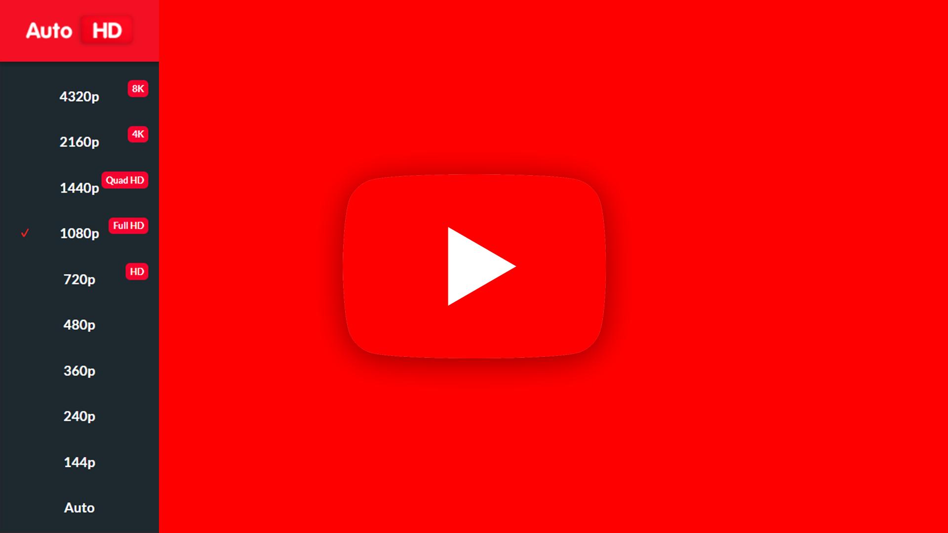 youtuberes - コロナ禍でもYoutubeで解像度を固定するChrome拡張機能